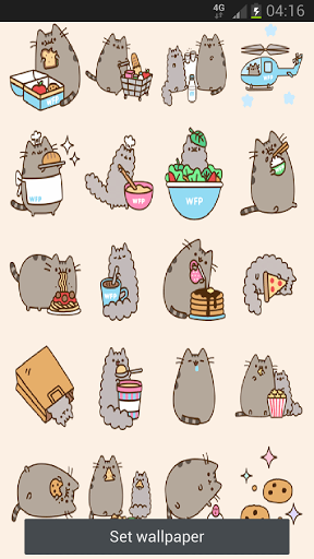 Pusheen Cat Food Live Wallpaper For Android cute Wallpapers 288x512