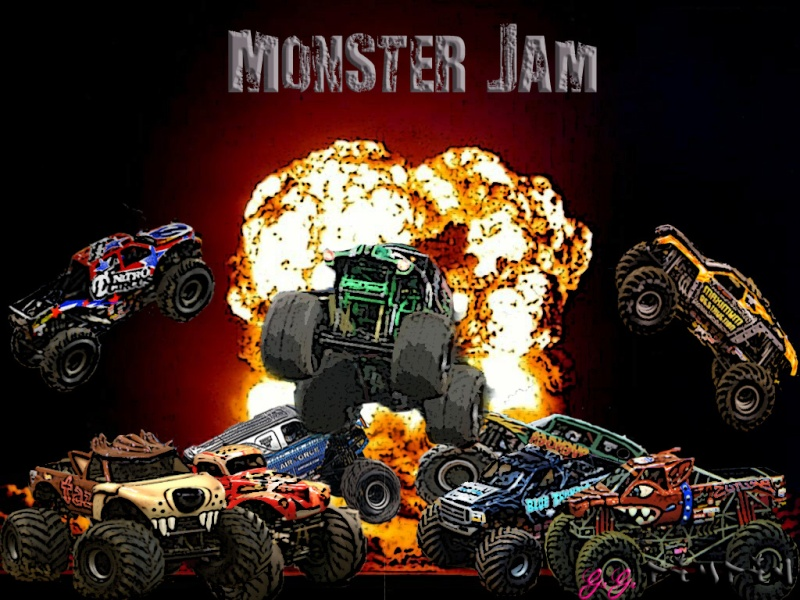 Monster Jam Wallpaper Wall Giftwatches Co