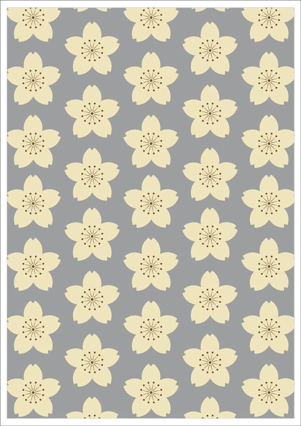 Yellow Retro Floral Design On Grey Printable Scrapbook Paper   Ink 600x848