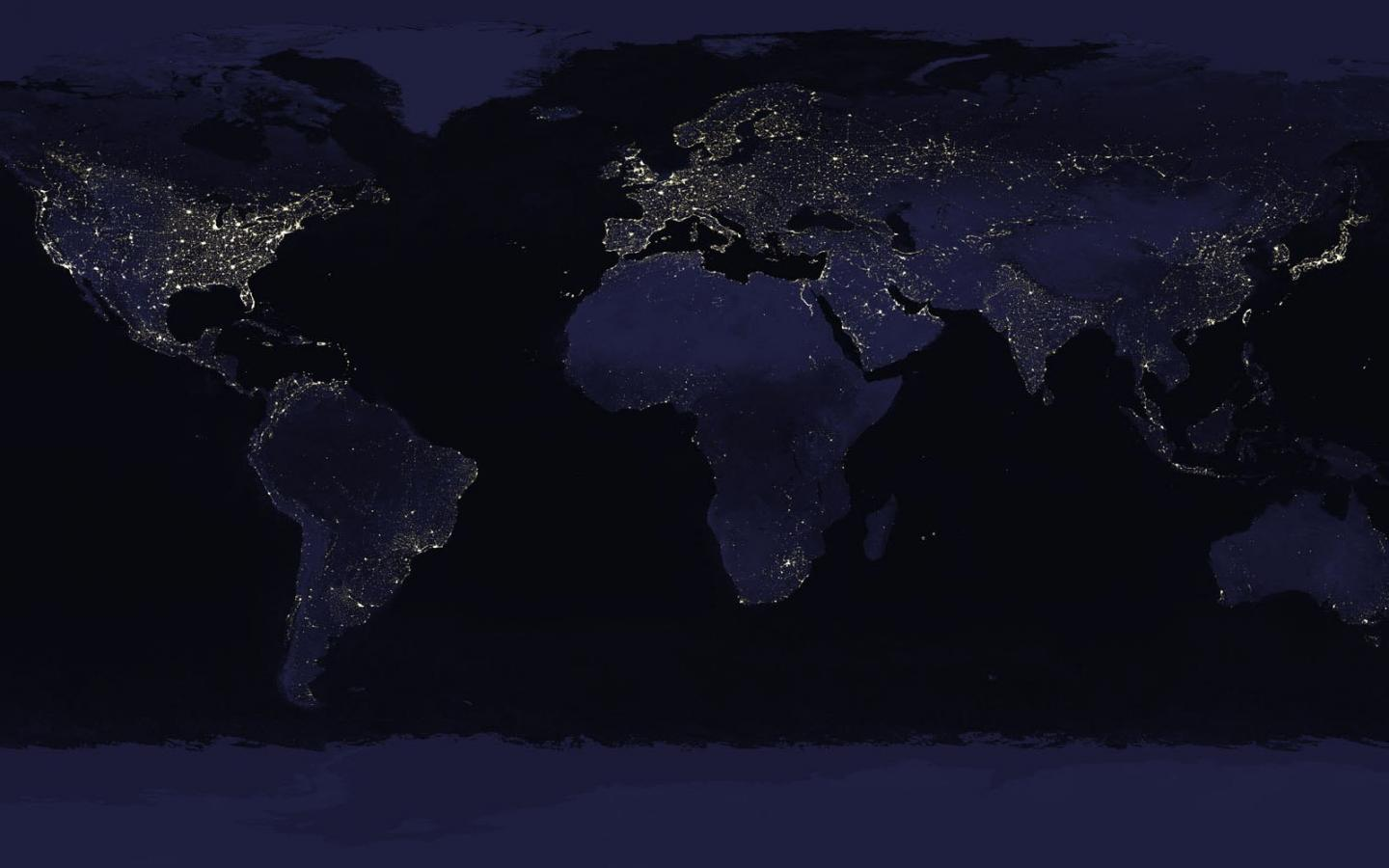 earth at night saw ages ago with what looked mercury HD Wallpaper 1440x900