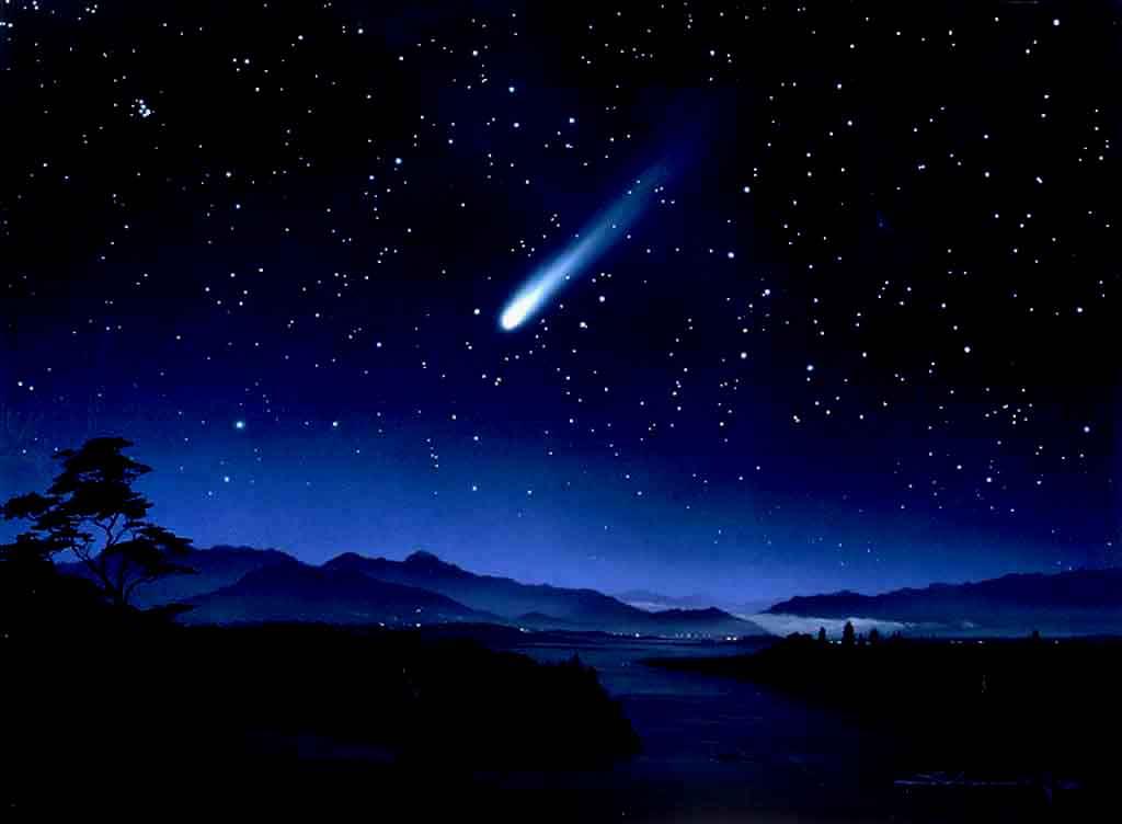 Beautiful Night Sky wallpaper 1024x752