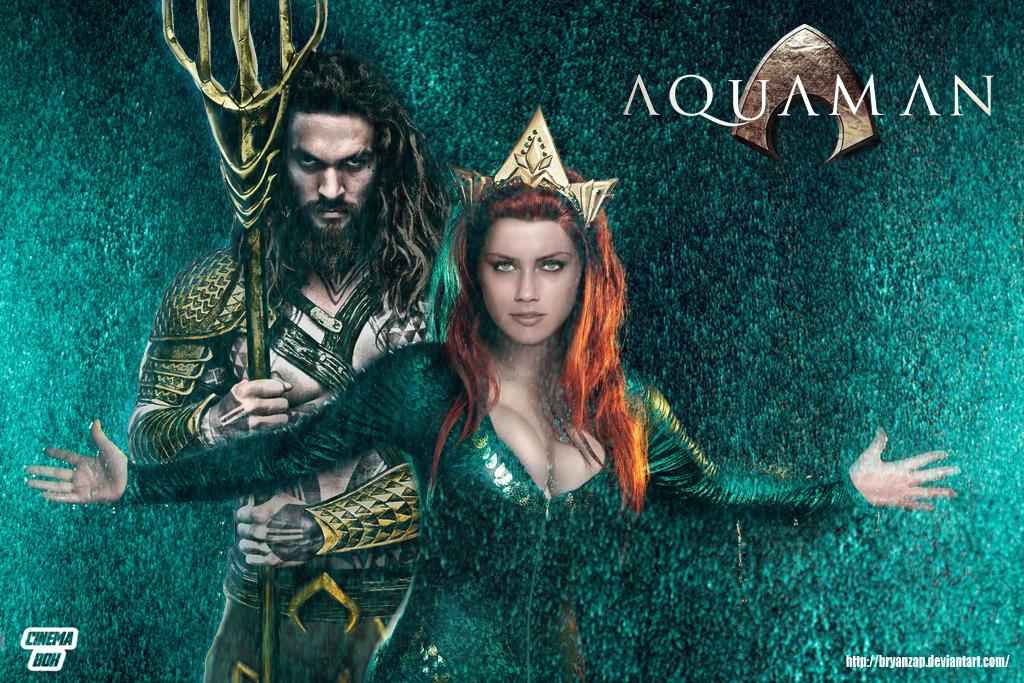 Aquaman and Mera Movie Wallpaper by Bryanzap 1024x683