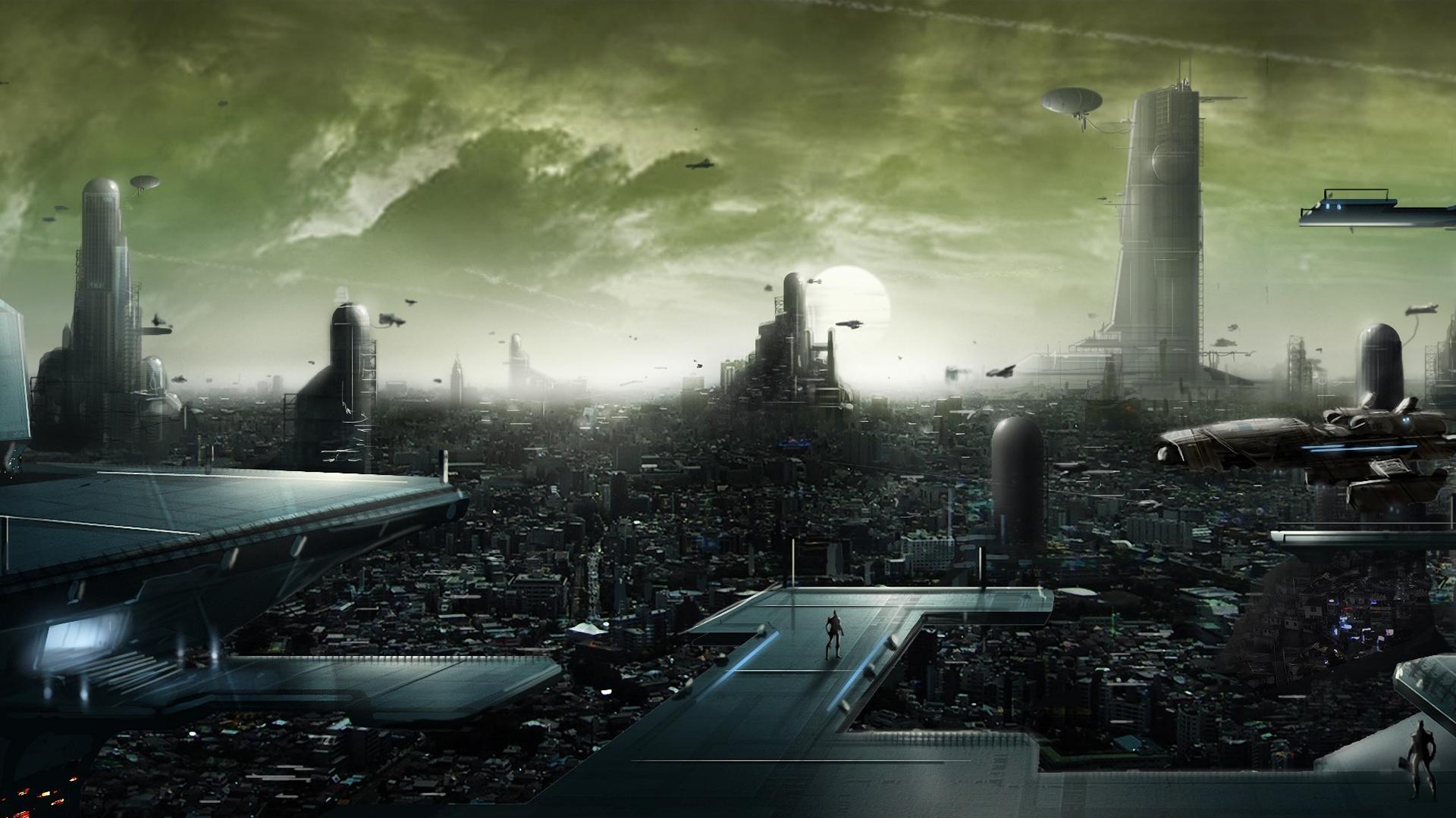 Sci fi art cities futuristic wallpaper 1920x1080 29005 1920x1080