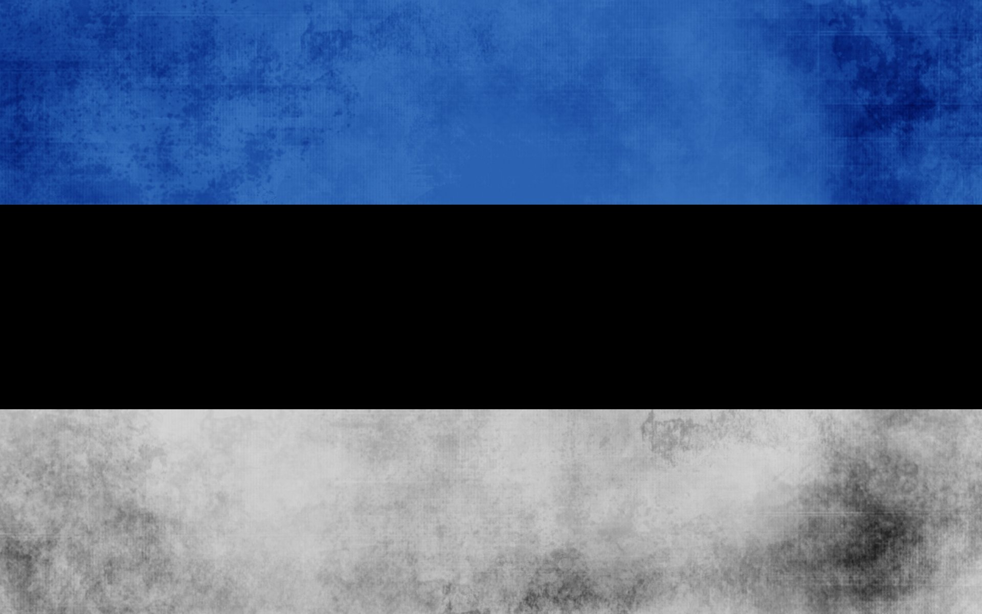 What flag is black with a horizontal blue stripe.