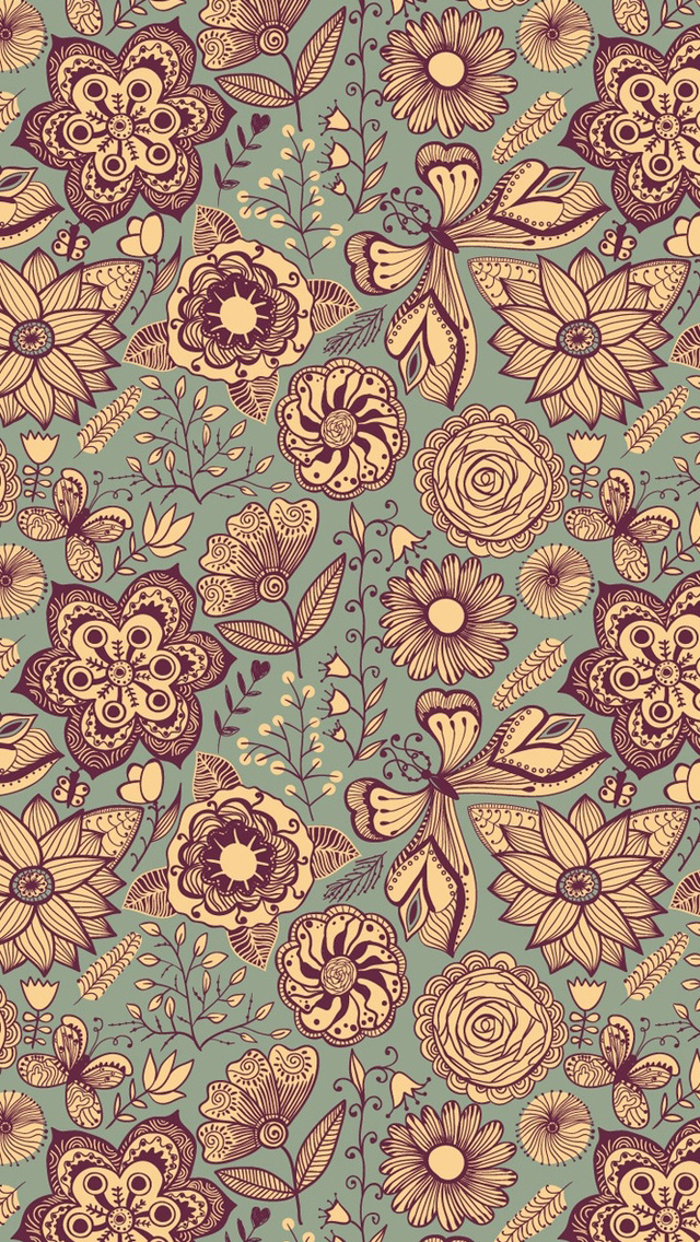 Vintage Pattern   The iPhone Wallpapers 640x1136
