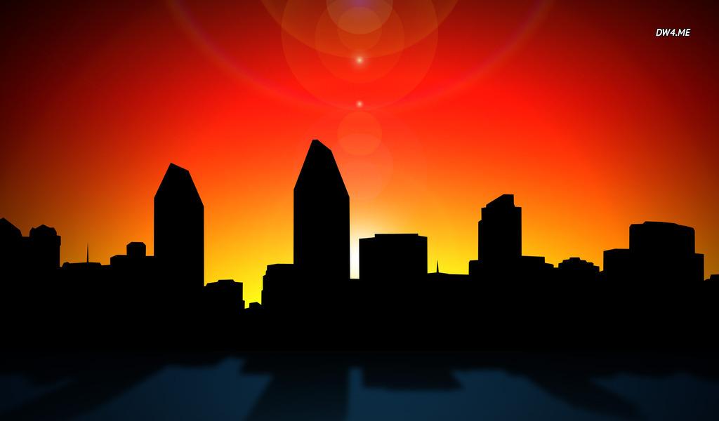 URL httpwwwdesktopwallpaper4mevectorsan diego skyline 384 1024x600