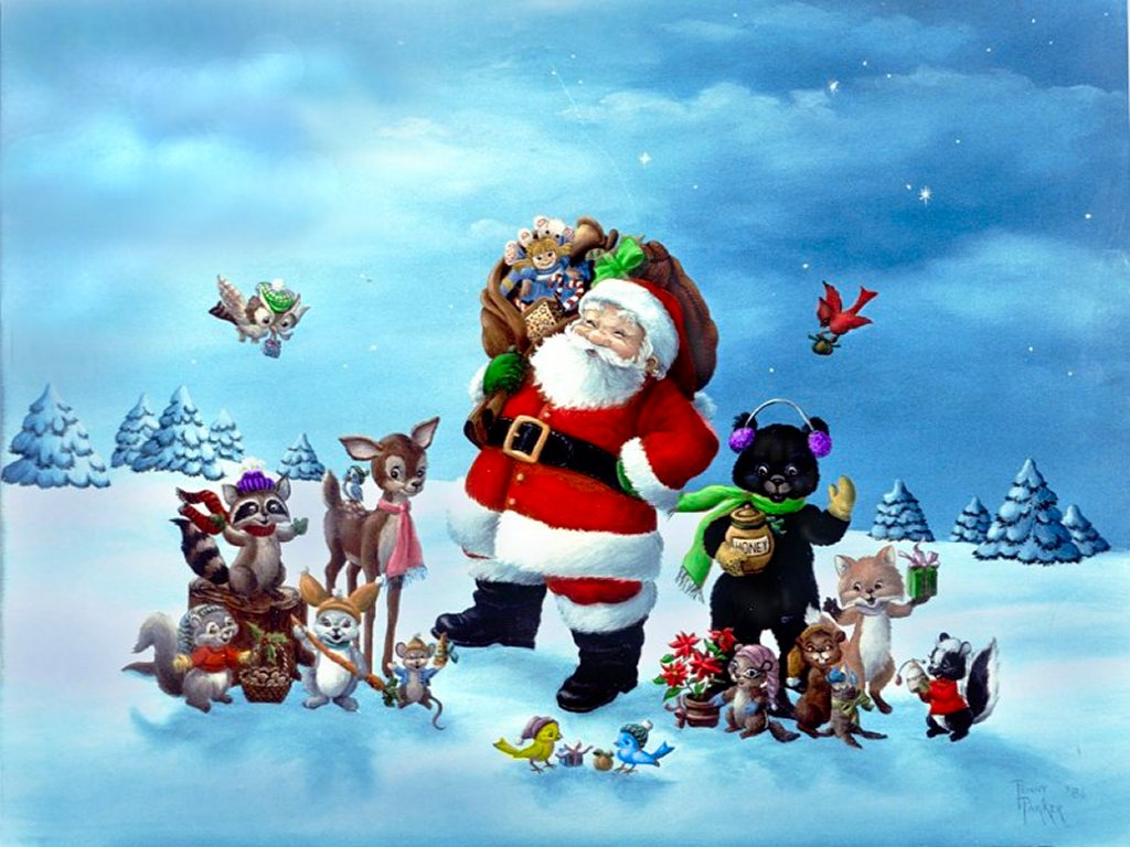 HD Wallpapers Christmas Wallpaper 1024x768