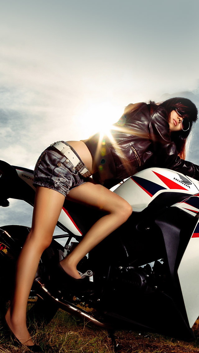 girls more search motorcycle girl iphone wallpaper tags girl 640x1136