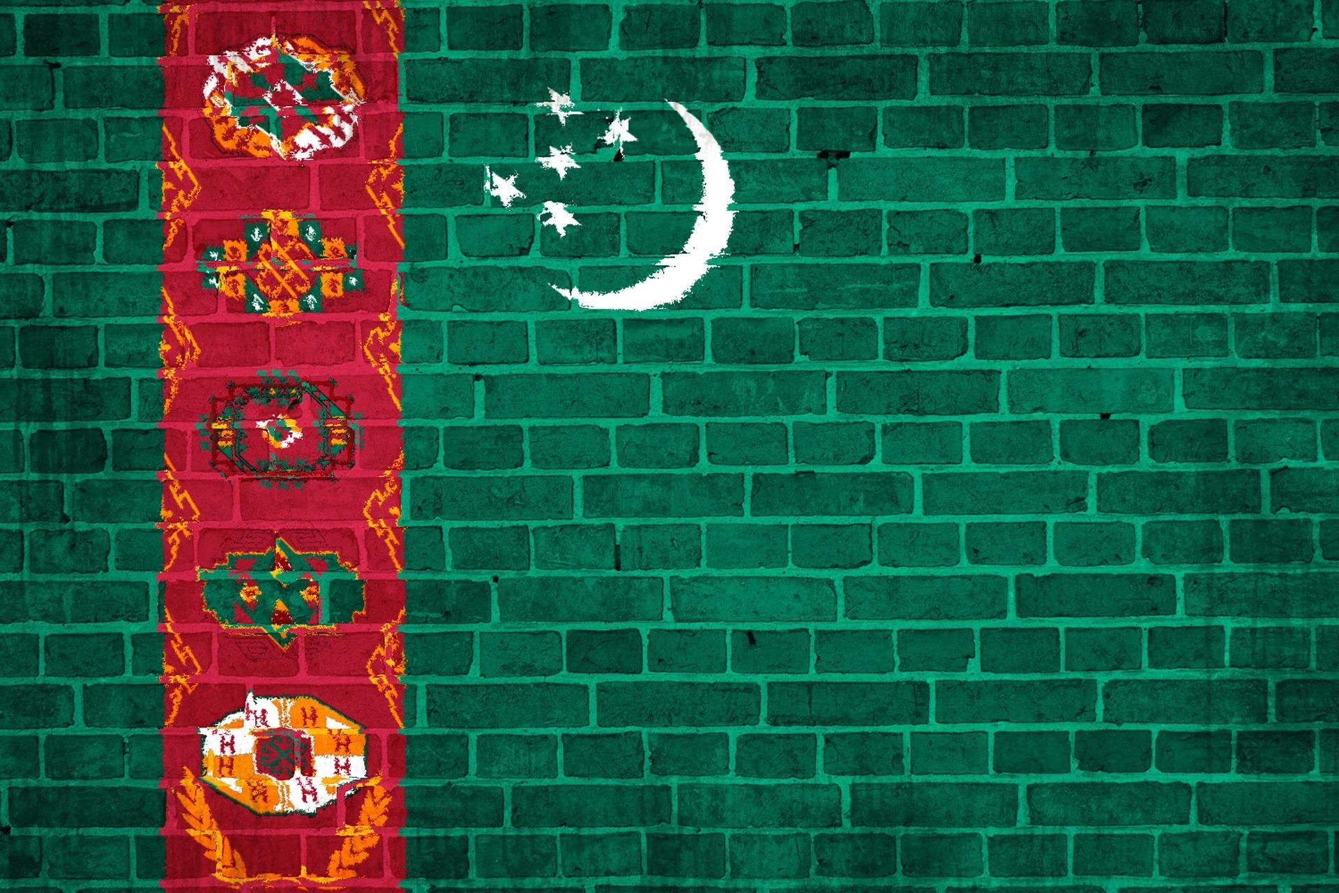 Download wallpaper 1920x1280 turkmenistan flag wall stones hd 1920x1280