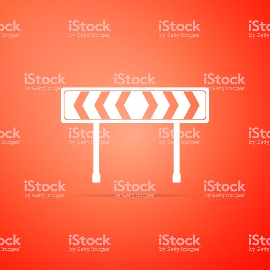 Safety Barricade Symbol Icon Isolated On Orange Background Traffic 1024x1024
