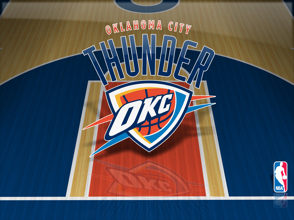 MyColors Oklahoma City Thunder Desktop Screenshot 1 of 4 1024x768