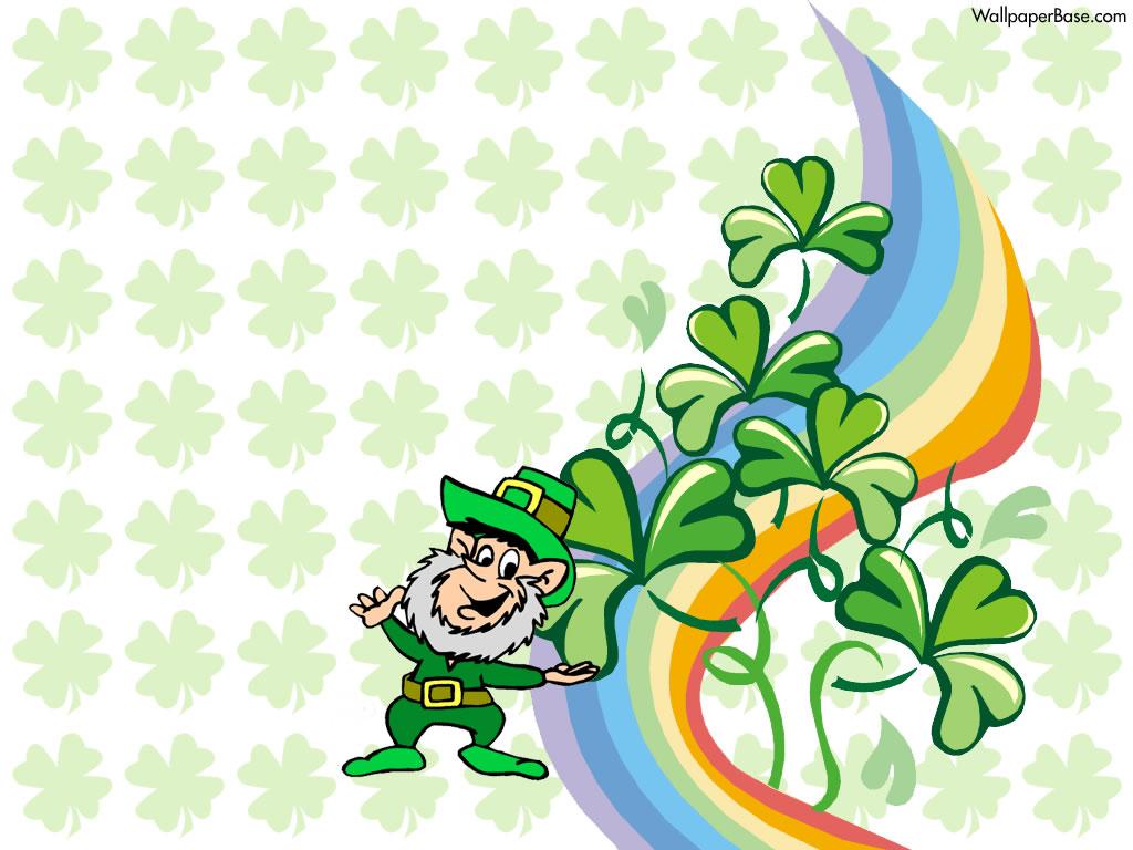 Get Lucky with Leprechaun Desktop Wallpaper for St Patricks Day 1024x768
