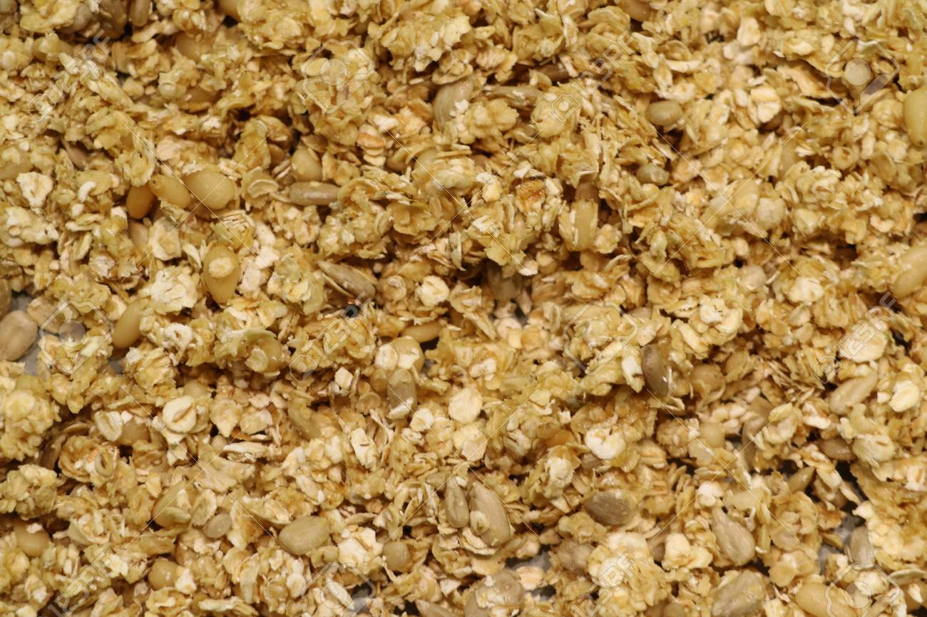 Organic Homemade Granola Cereal With Oats And Almond Texture 1300x866
