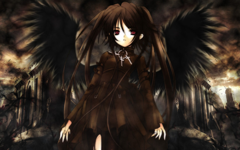 Free Download Home Gallery Anime Girls Wallpapers Dark Angel