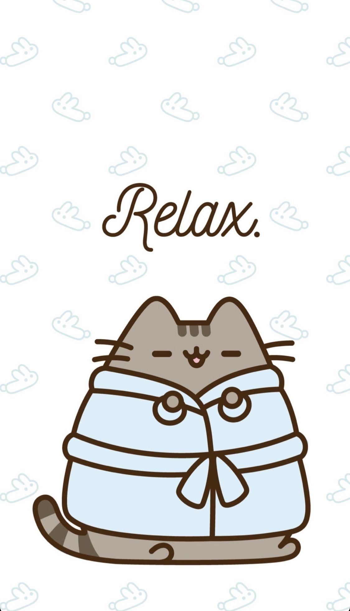 relaxing pusheen wallpaper With images Pusheen cute 1125x1961