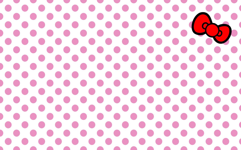 Hello Kitty Pink Dots Background Wallpaper #7241 Wallpaper | Best ...