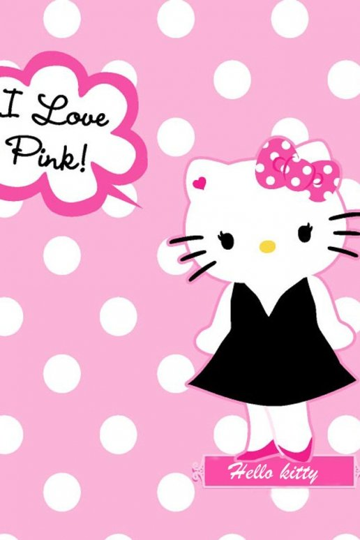 Hello Kitty I Love Pink iPhone HD Wallpaper 516x774