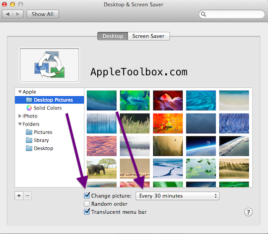 Mac OS X How to change your desktop background wallpaper   Apple 540x472