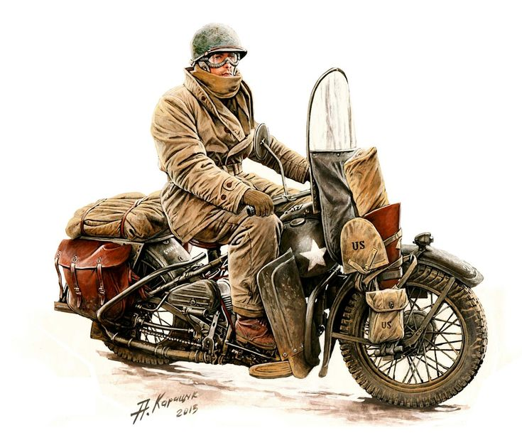 USARMY   Private su Harley Davidson WLA 42 Andrey 735x609