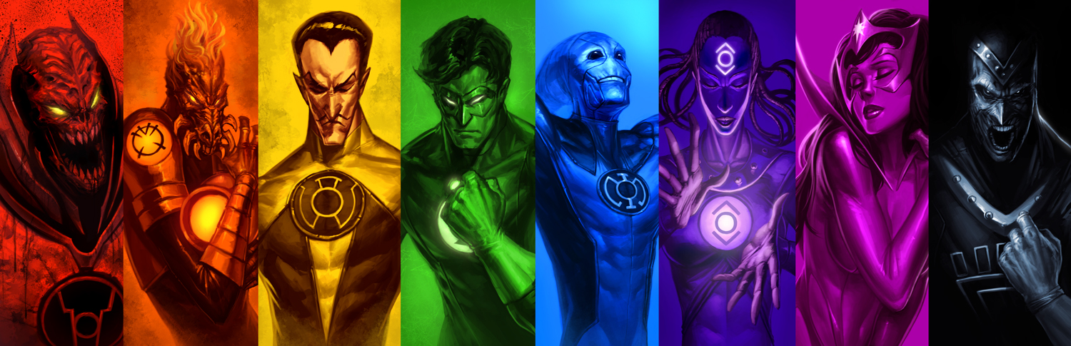 download Lantern Corps by ArtDoge [1500x485] for your Desktop 1500x485