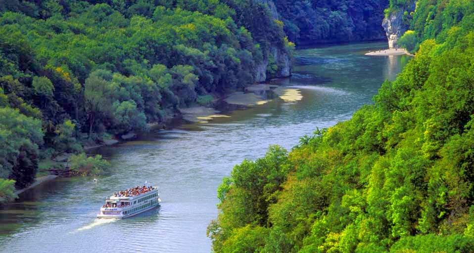 Cruise Ship visits the Danube Gorge Weltenburg Abbey Bavaria 958x512