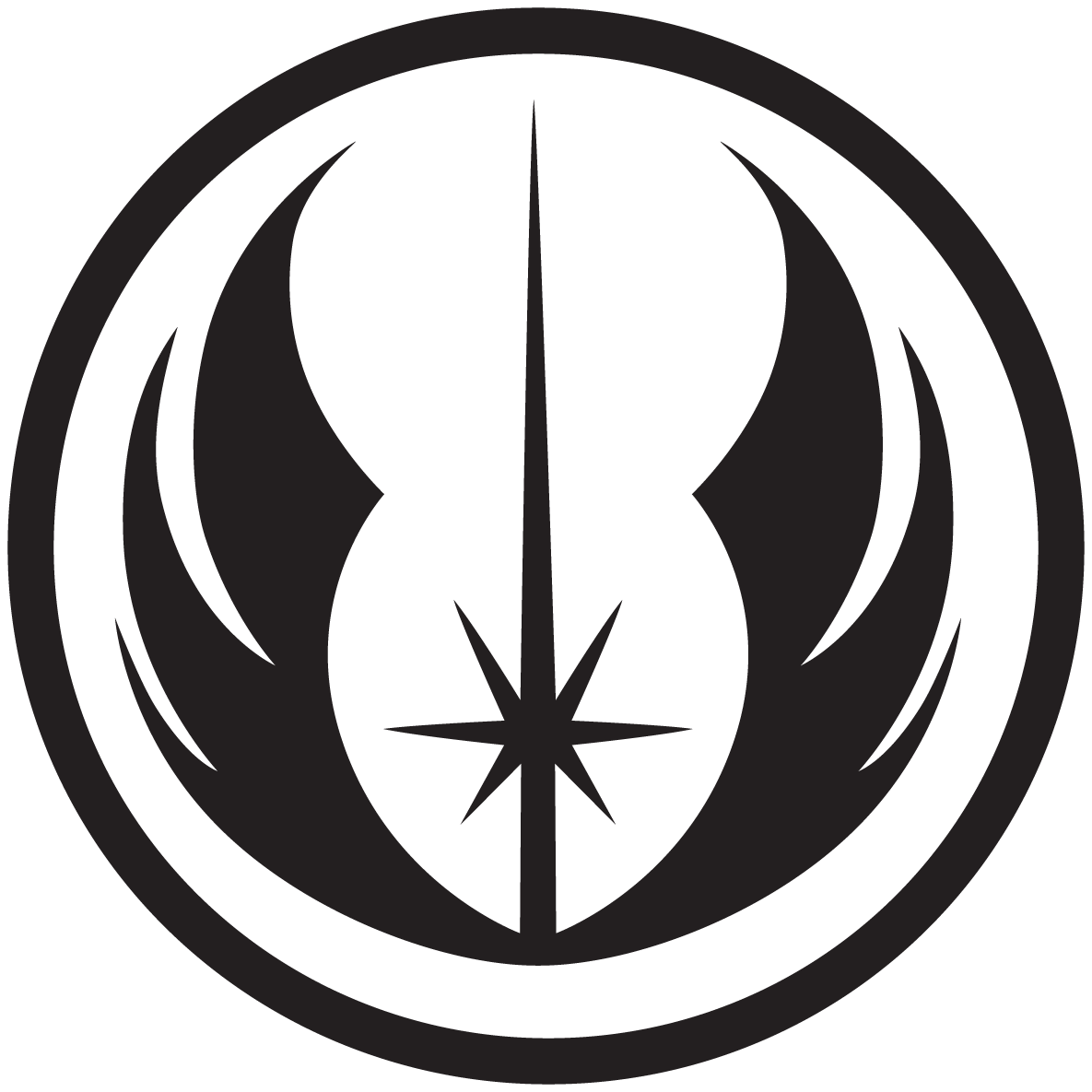 Jedi Order Symbol Cellphone Wallpaper by swmand4 1185x1185