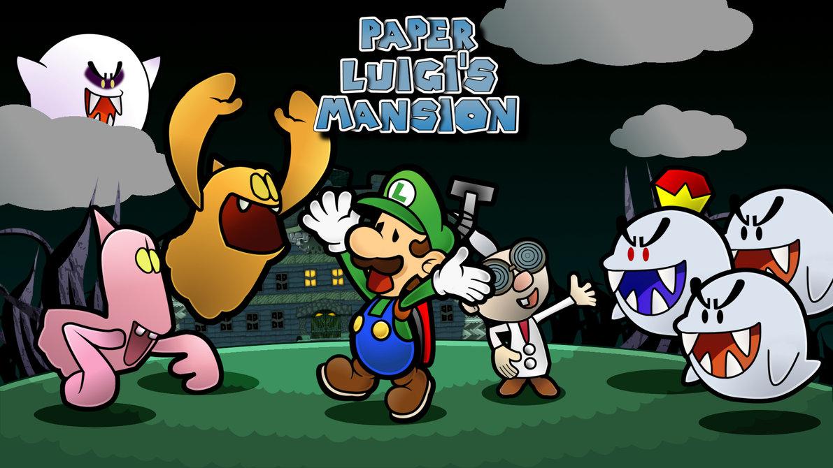 Free Download Paper Luigis Mansion By Geo Gimp 1191x670