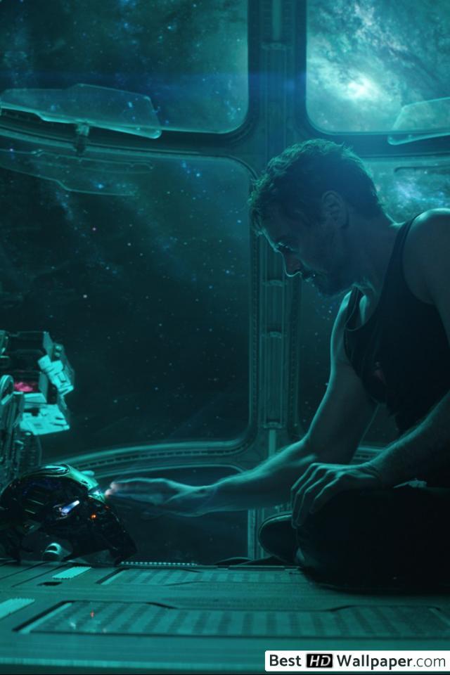 Avengers Endgame   Tony Stark with his helmet HD wallpaper download 640x960