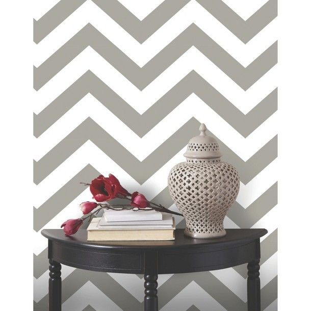 Devine Color Zig Zag Peel Stick Wallpaper   Mirage Bookcases 610x610