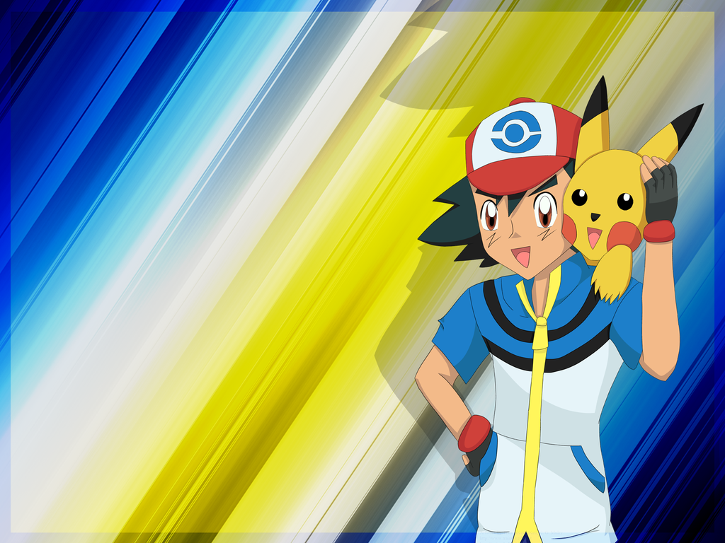 Xmas 2012   Ash Pikachu Wallpaper by TrainerKelly 1024x768