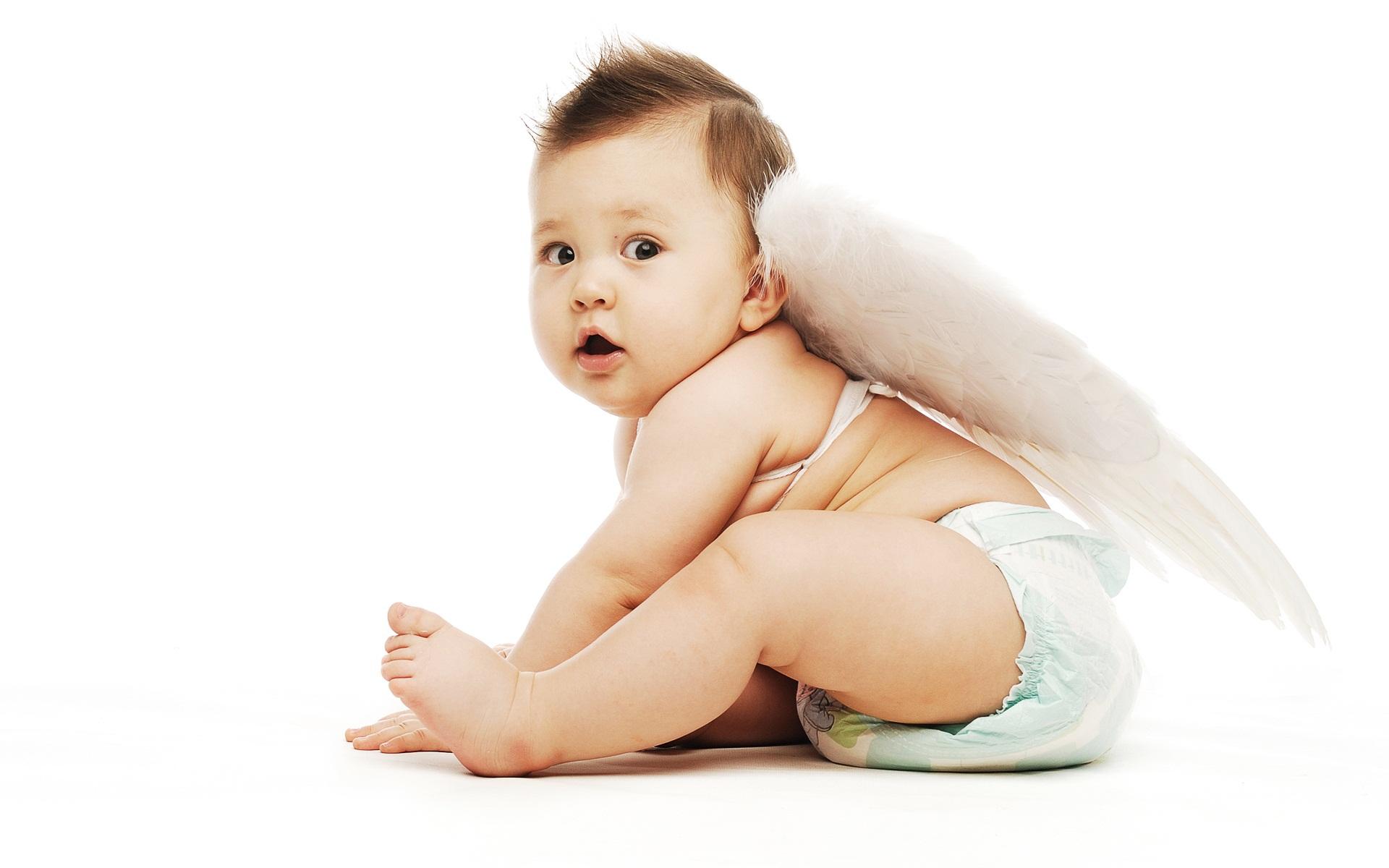 100 cute baby wallpapers wallpapersafari for Fond ecran fee