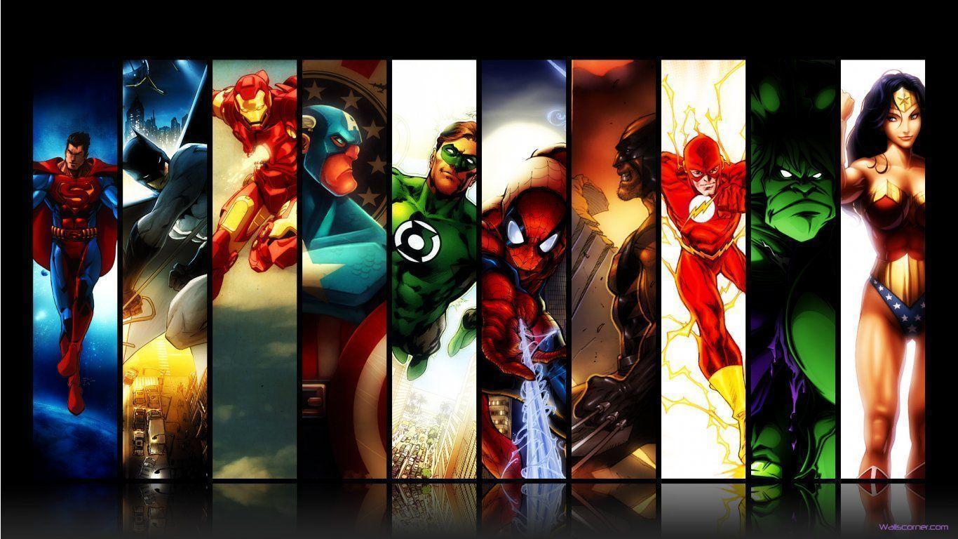 Superhero Wallpapers 1366x768