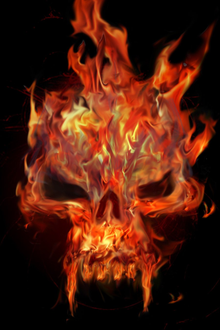 Flaming Skull by Chemikal GraphiX 900x1350