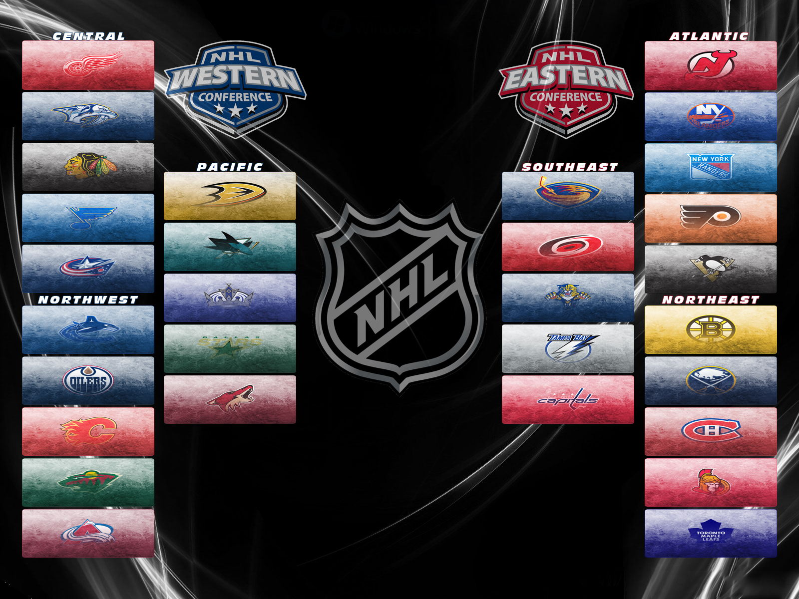NHL Logo Wallpaper Collection 1600x1200