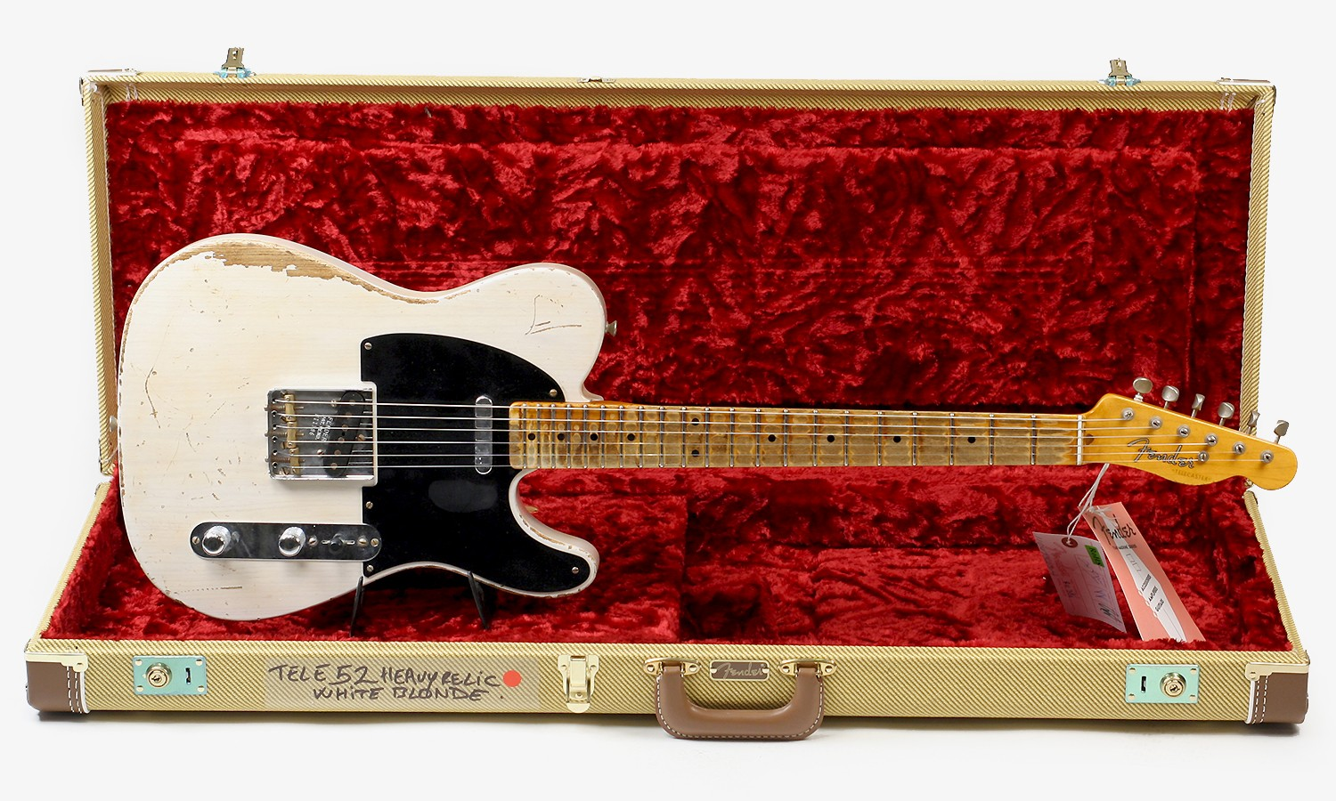 Telecaster USA Custom Shop 1952   Heavy Relic White Blonde N R11386 1500x900