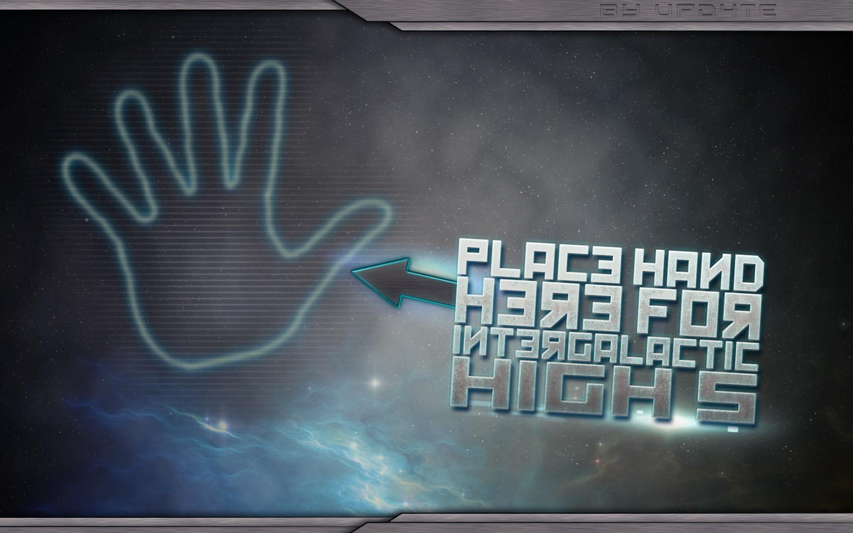 Download the Intergalactic High 5 Wallpaper Intergalactic High 5 1680x1050