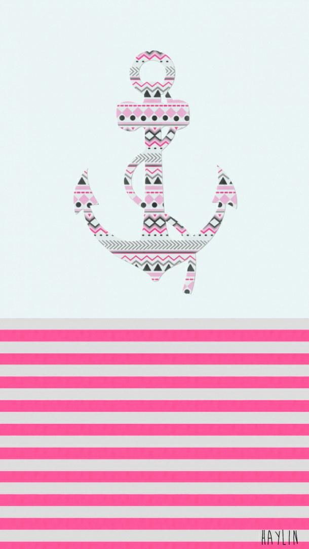 pink anchor wallpaper wallpapersafari