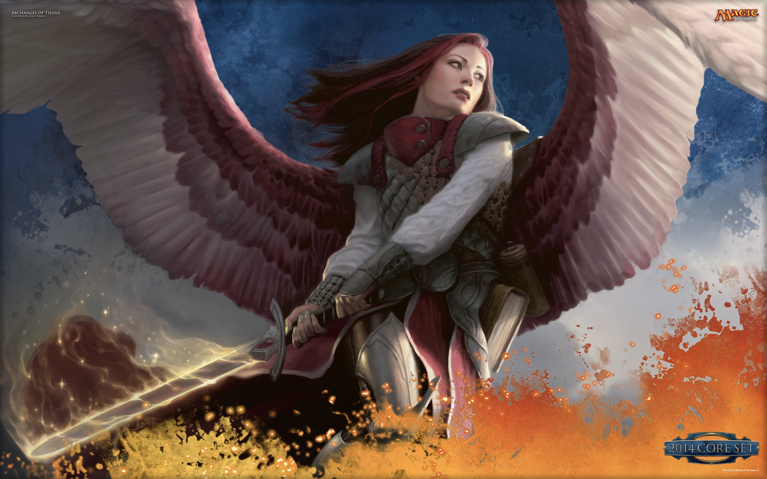 Wallpaper of the Week Archangel of Thune Daily MTG Magic The 2560x1600
