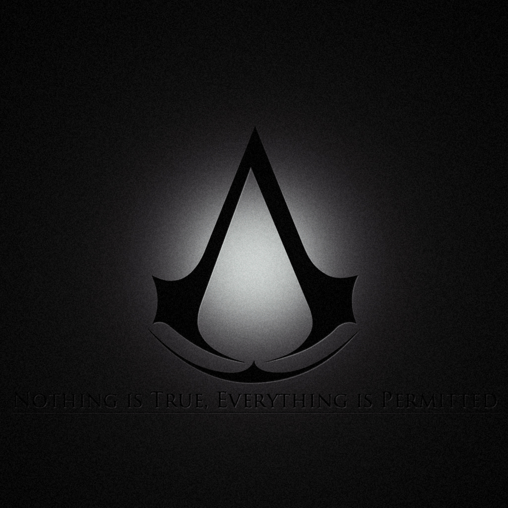 Assassins Creed Brotherhood Logo iPad Wallpaper iPad Retina HD 1024x1024