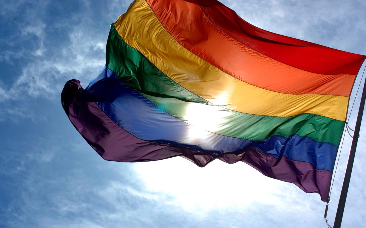 Gay Pride Month computer desktop wallpaper 1280x800