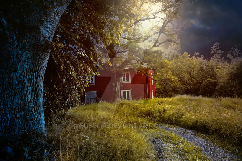 PREMIUM background   Swedish Country House by Euselia 800x533