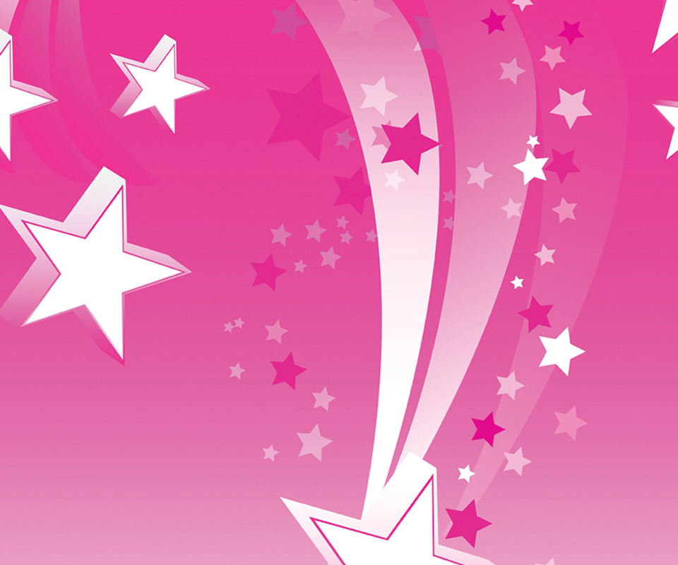Samsung Galaxy Ace Q Decal Skin   Pink Shooting Stars 960x800