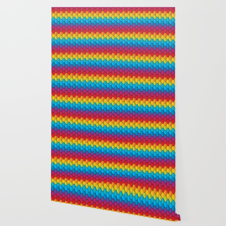 Rainbow Feather 2 Wallpaper by christineiris Society6 1500x1500