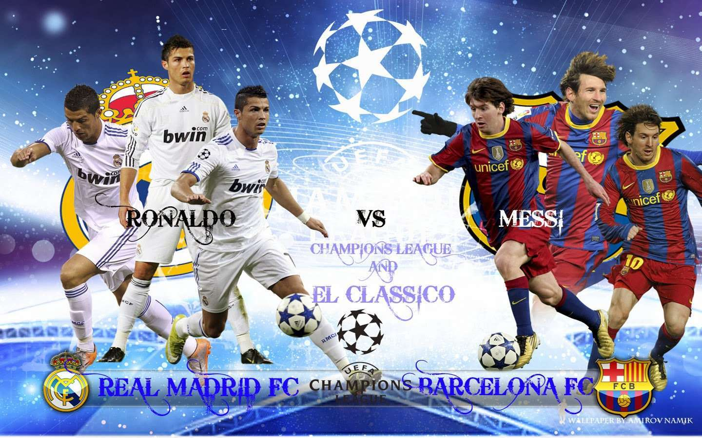 Cristiano Ronaldo vs Lionel Messi HD Wallpaper 1440x900