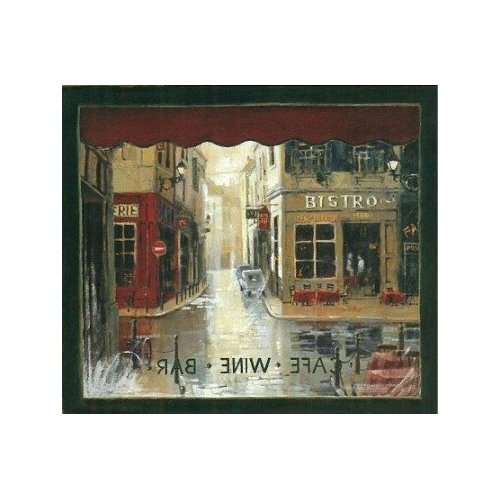 French Bistro Murals CAFE WINDOW Wallpaper Mural Home 500x500