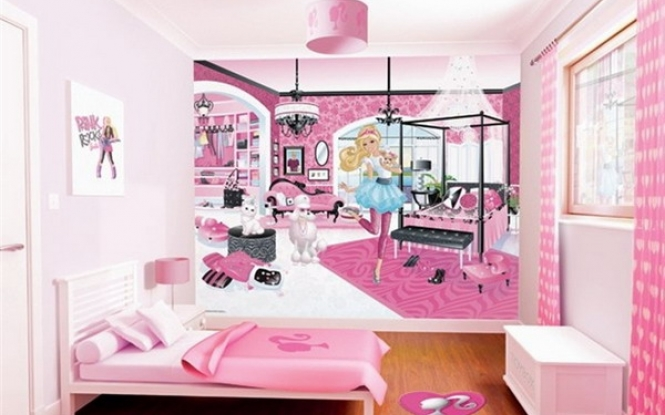 Barbie murals bedroom design borders the use of wallpaper borders 665x415