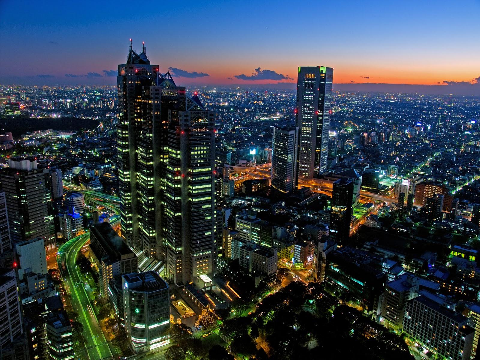 skyscrapers tokyo wallpaper tokyo tower at night japan wallpaper 1600x1200