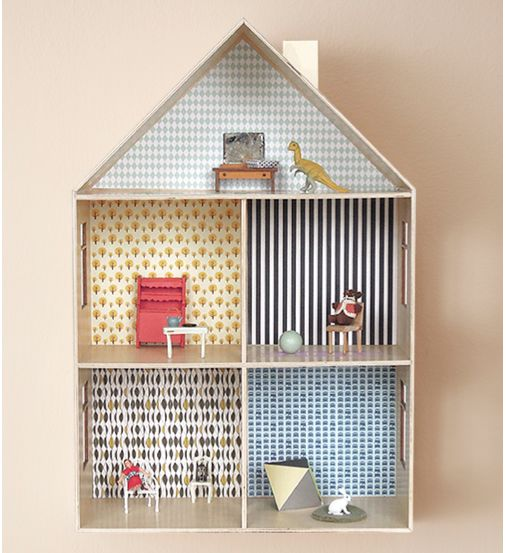 DIY printable dollhouse wallpaper 506x553