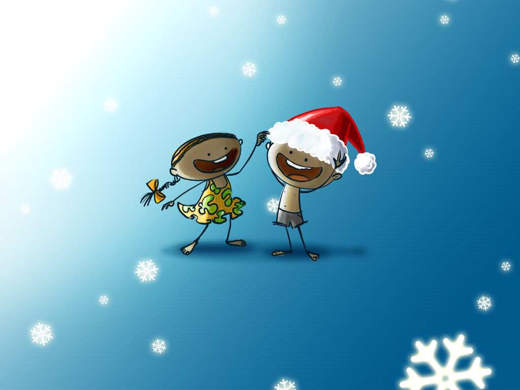 Funny Christmas Wallpapers Background 1024x768