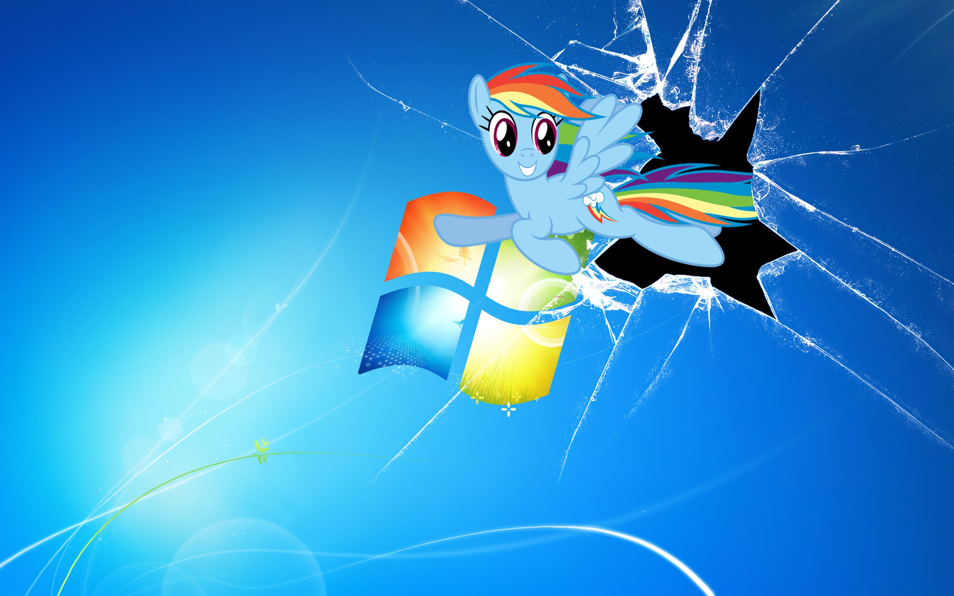 Cracked Screen Wallpaper Windows 8 Rainbowdash windows wallpaper 3294x2058